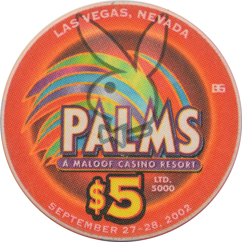 Palms (Playboy Club) Casino Las Vegas NV $5 Jenny McCarthy Chip 2002