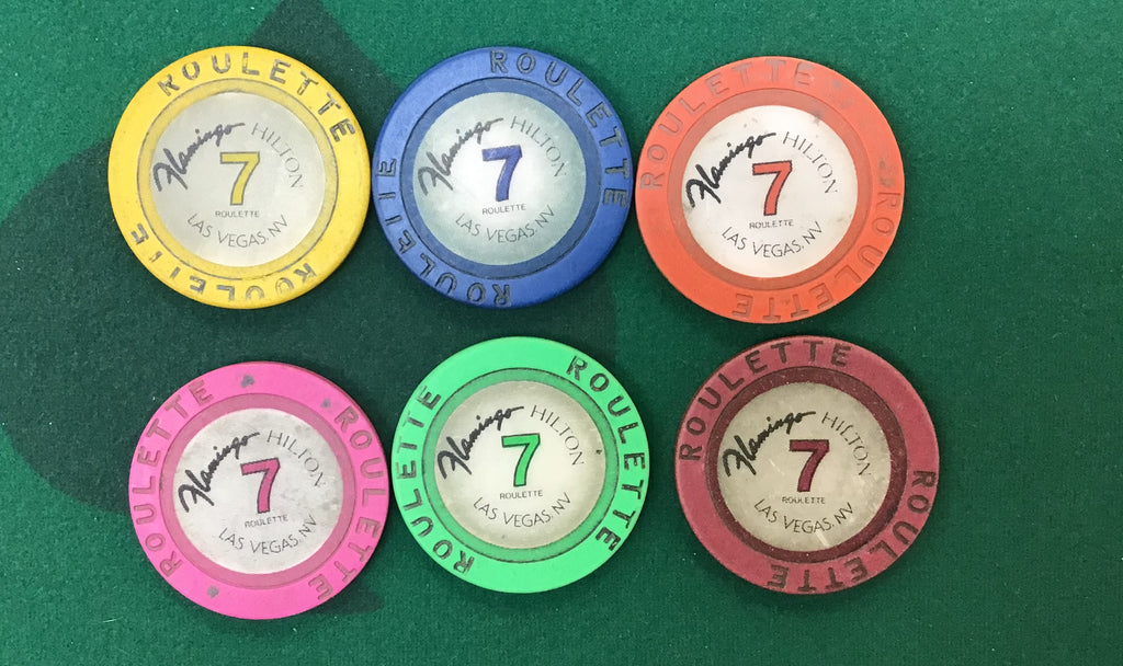 Flamingo Hilton Las Vegas 600 Roulette Chip Set