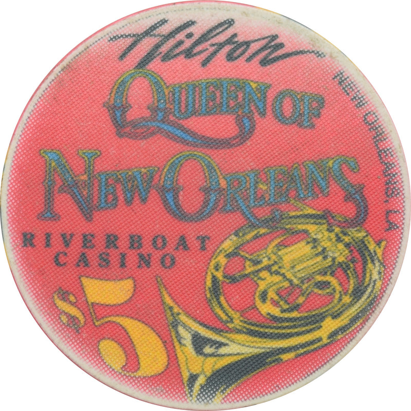 Queen of New Orleans Riverboat Casino New Orleans LA $5 Chip