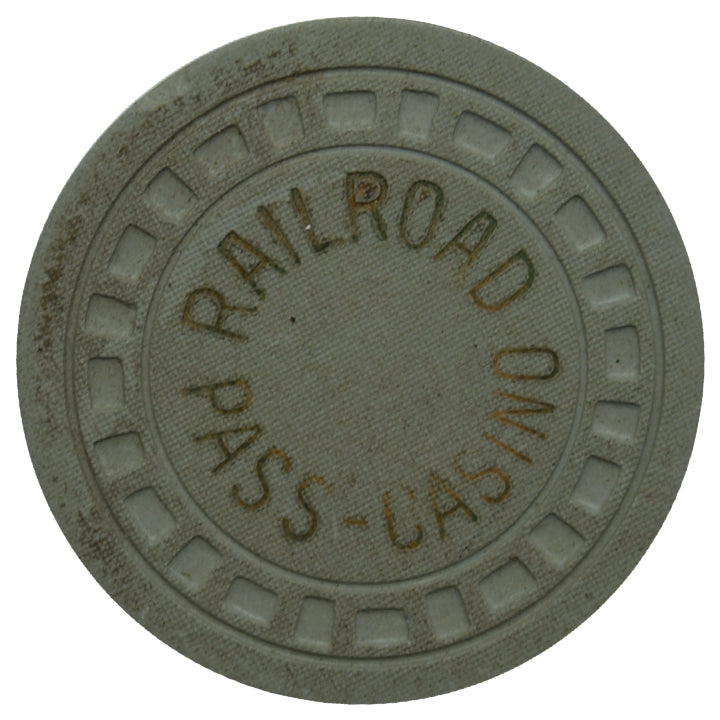 Railroad Pass Casino Henderson NV Gray Chip 1957