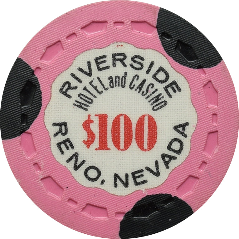 Riverside Hotel Casino Reno NV $100 Chip 1963