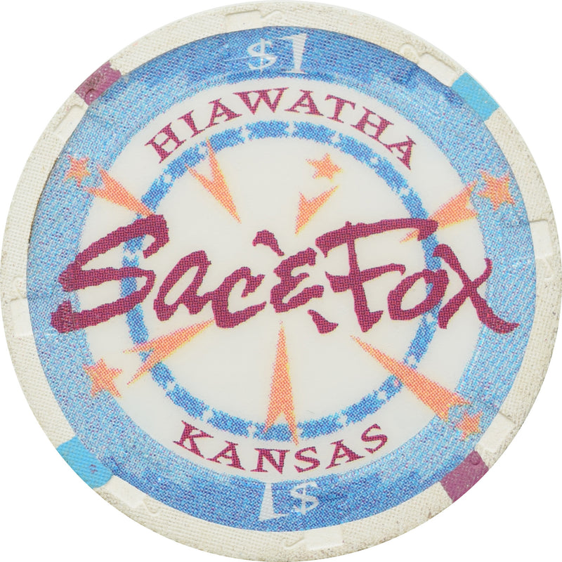 Sac & Fox Casino Powhattan KS $1 Chip