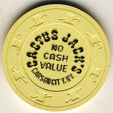 Cactus Jack's No Cash Value (Cream) Chip - Spinettis Gaming - 1