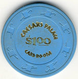 Caesars Palace $1 (lt blue 1970s) Chip - Spinettis Gaming - 1