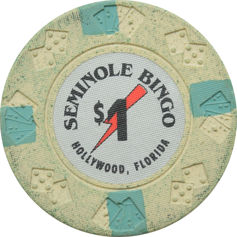 Seminole Bingo Casino Hollywood FL $1 Chip