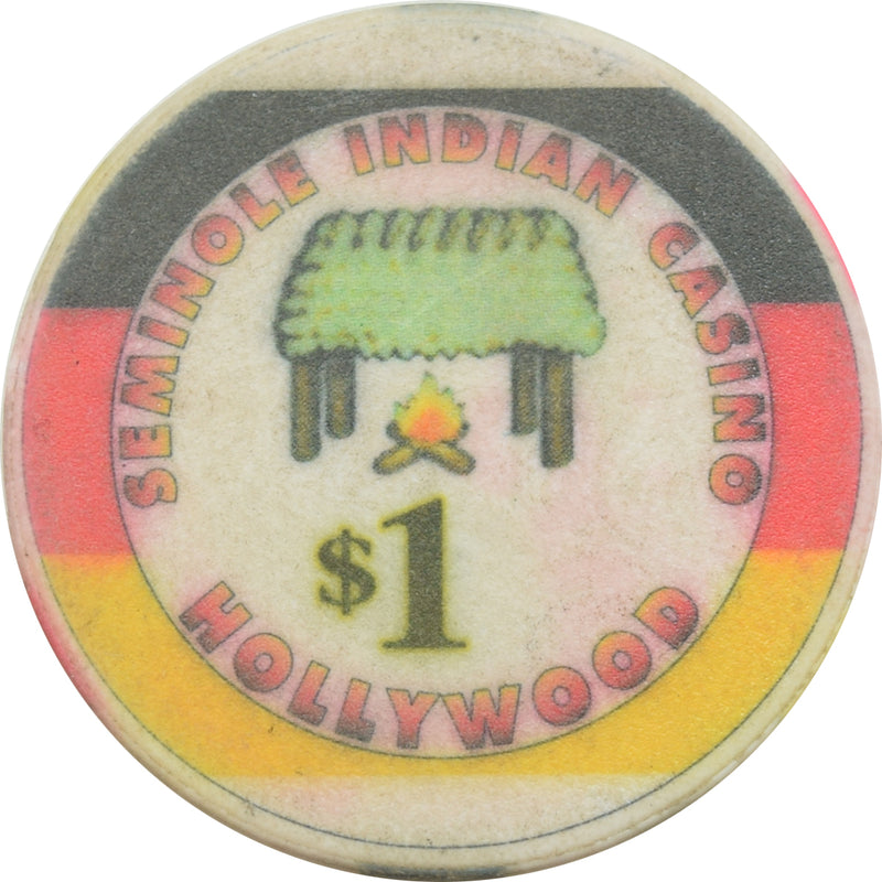 Seminole Indian Casino Hollywood FL $1 Chip