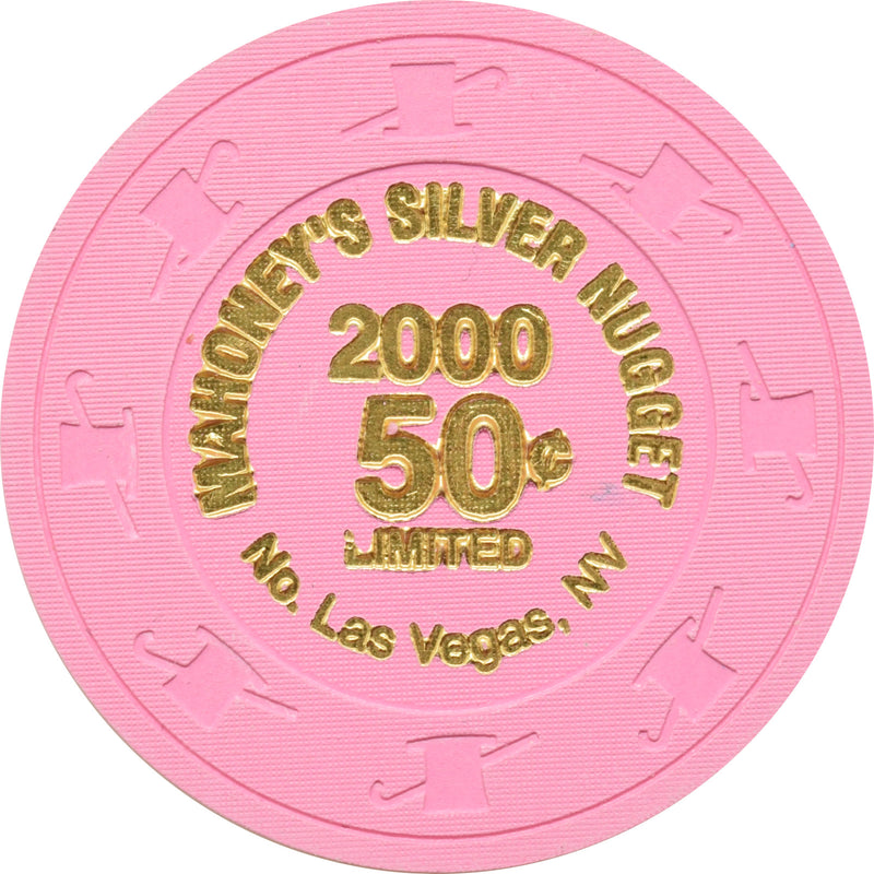 Mahoney's Silver Nugget Casino N. Las Vegas Nevada 50 Cent Limited Chip 2000