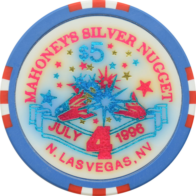 Mahoney's Silver Nugget Casino N. Las Vegas Nevada $5 4th of July Chip 1996