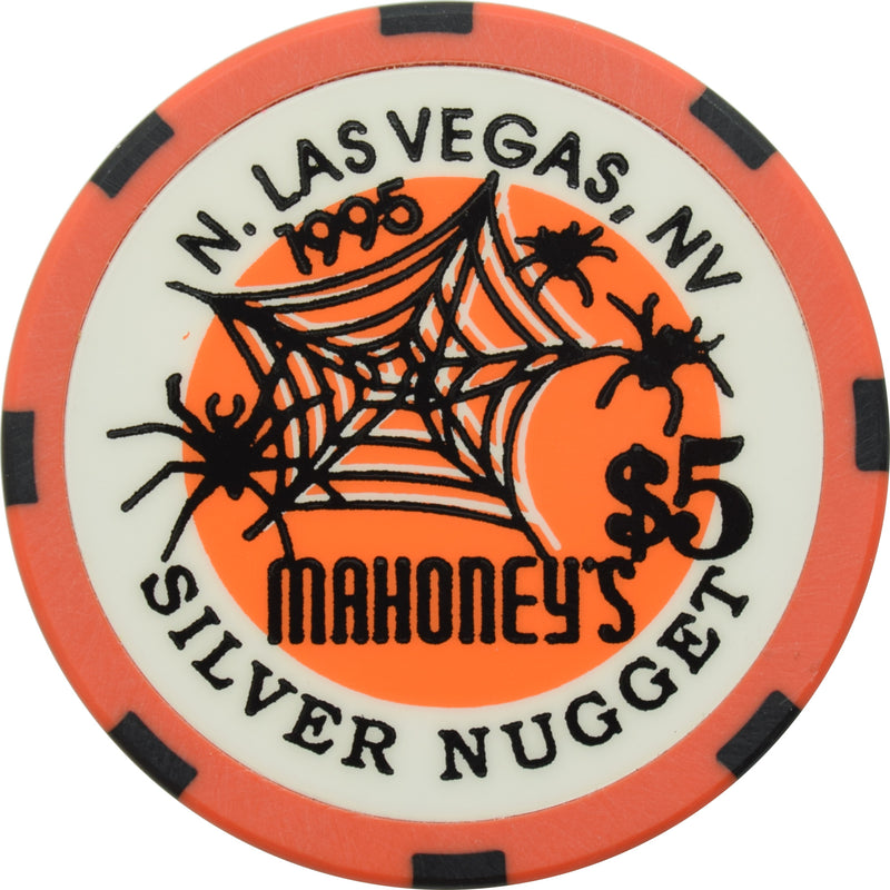Mahoney's Silver Nugget Casino N. Las Vegas Nevada $5 Halloween Chip 1995
