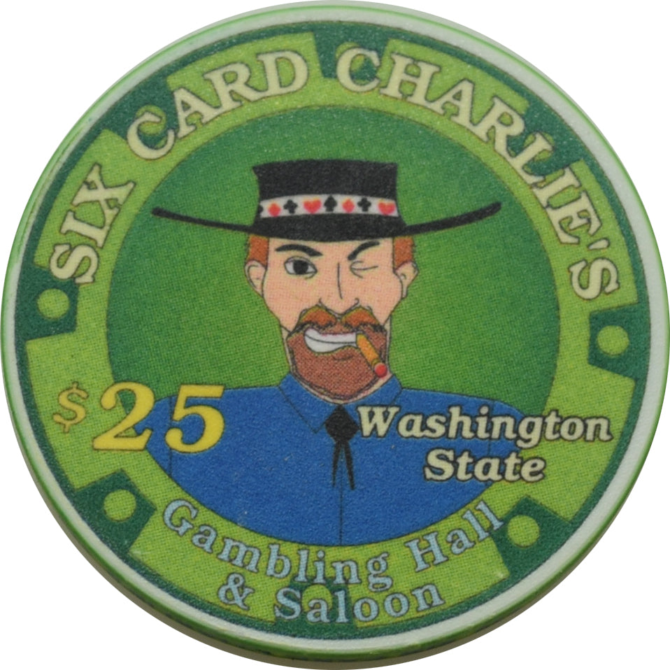 Six Card Charlies Casino Washington $25 Chip