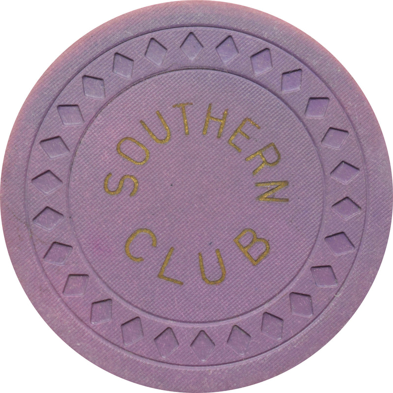 Southern Club Illegal Casino Hot Springs Arkansas $25 Chip Solid Purple