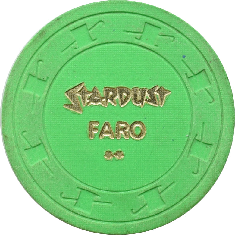 Stardust Casino Las Vegas NV Green FARO Chip 1985