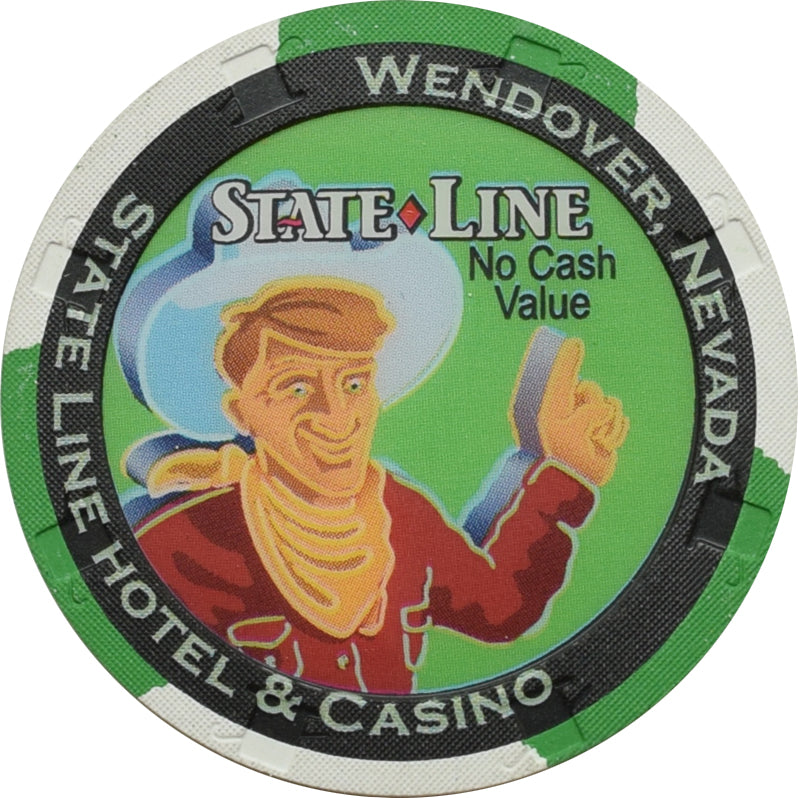 State Line Casino Wendover NV Green NCV Chip 1990s