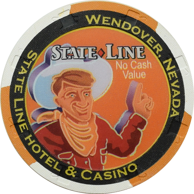 State Line Casino Wendover NV Orange NCV Chip 1990s