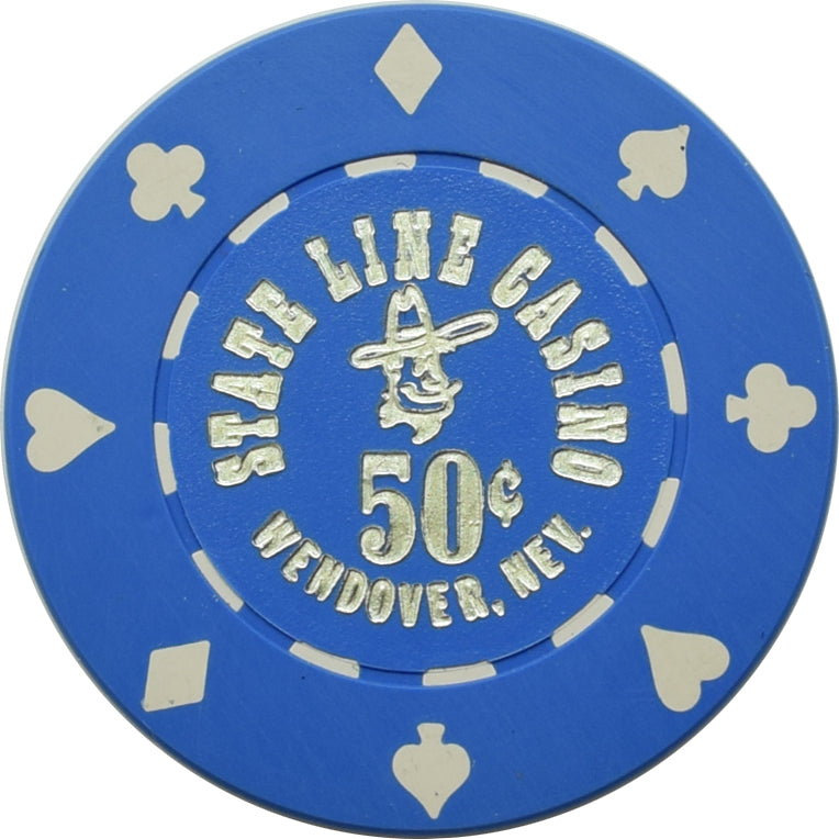 State Line Casino Wendover Nevada 50 Cent Chip 1980