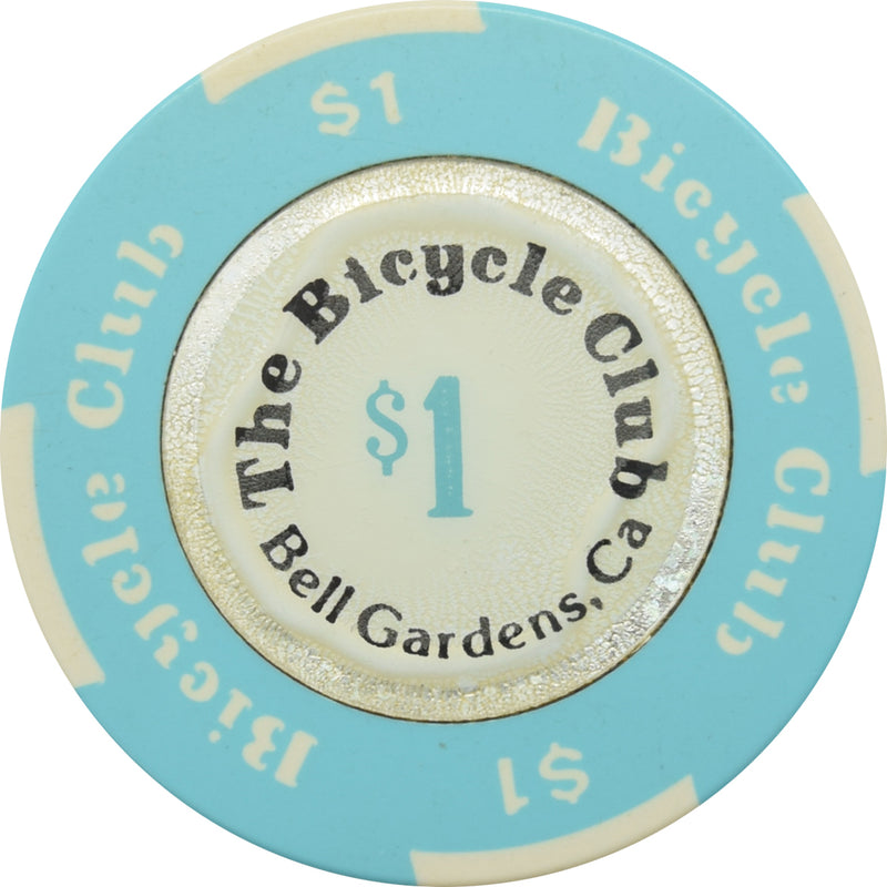 The Bicycle Club Casino Bell Gardens CA $1 Chip