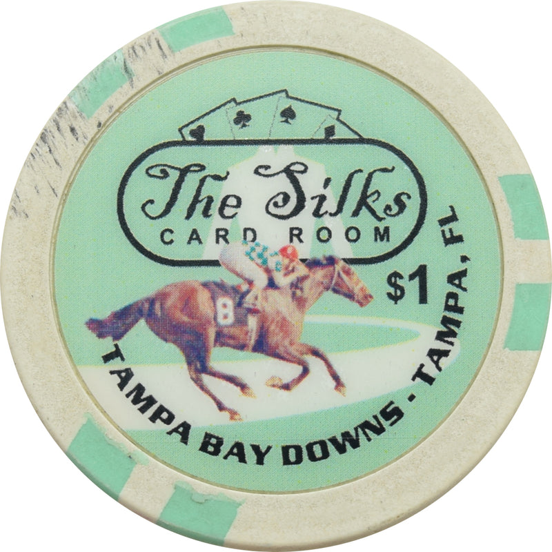 The Silks Card Room Tampa FL $1 Chip