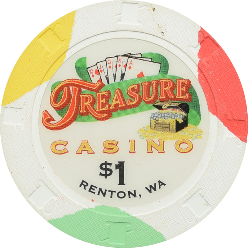 Treasure Casino Renton WA $1 Chip