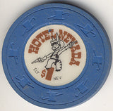 Hotel Nevada $1 (blue) chip - Spinettis Gaming - 1