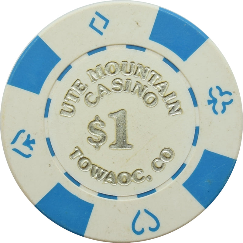 Ute Mountain Casino Towaoc CO $1 Chip