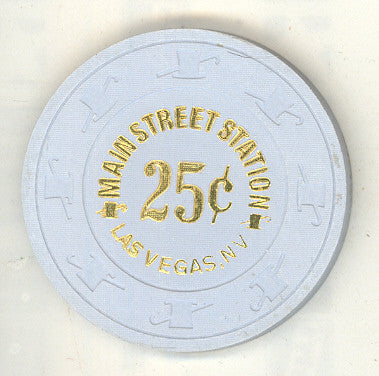 Main Street Station Casino Las Vegas NV 25 Cent Chip 1996