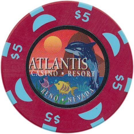 Atlantis Casino Reno NV $5 Chip 1999