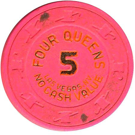 Four Queens 5 (hot pink) (no cash) chip