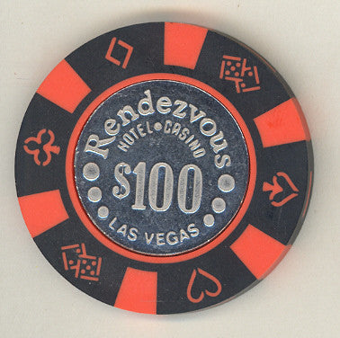 Rendezvous Casino $100 (black) chip (IMITATION)