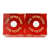 The Venetian Casino Used Matching Numbers Pair of Red Dice