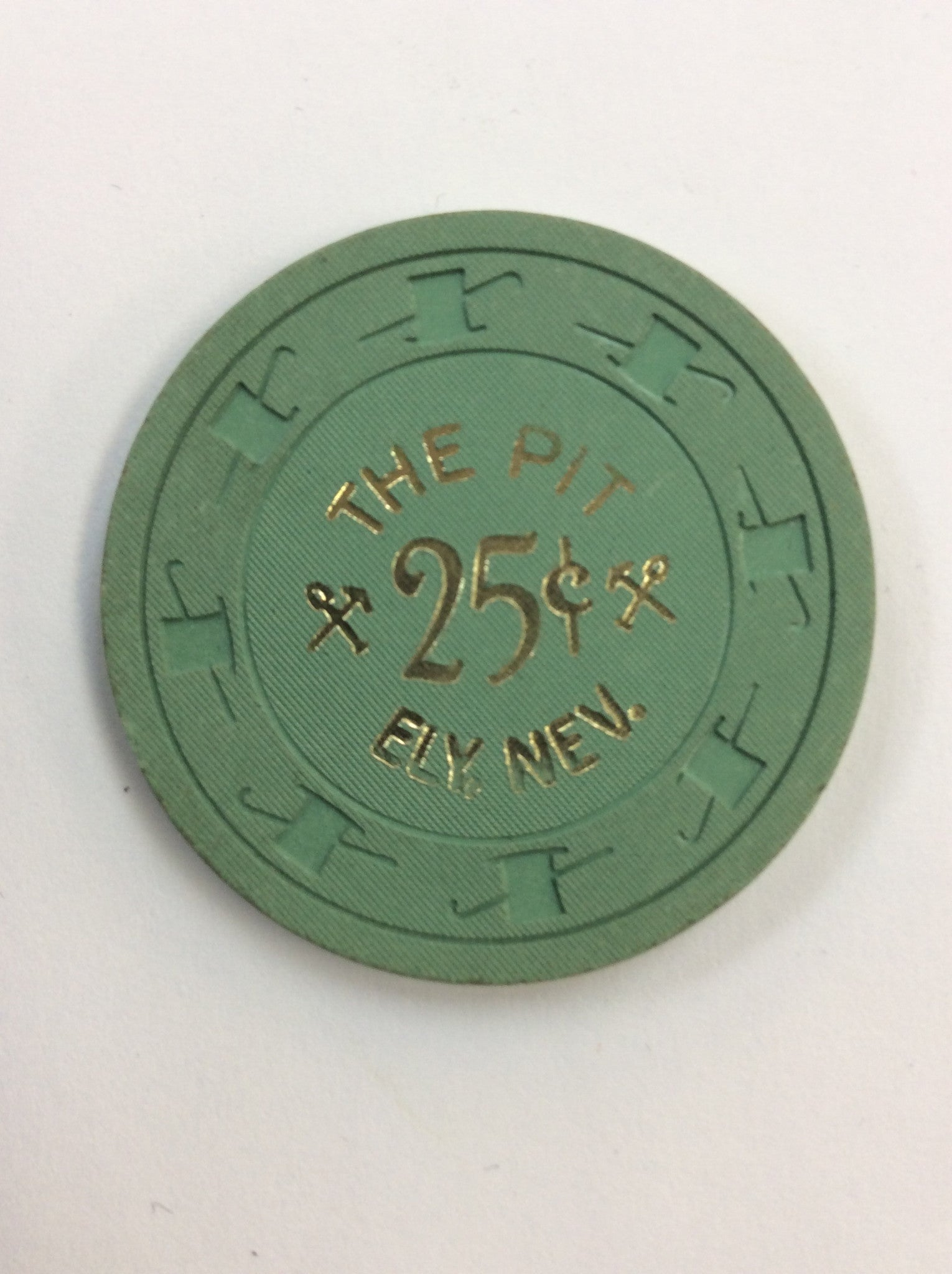 The Pit 25 (green) chip - Spinettis Gaming