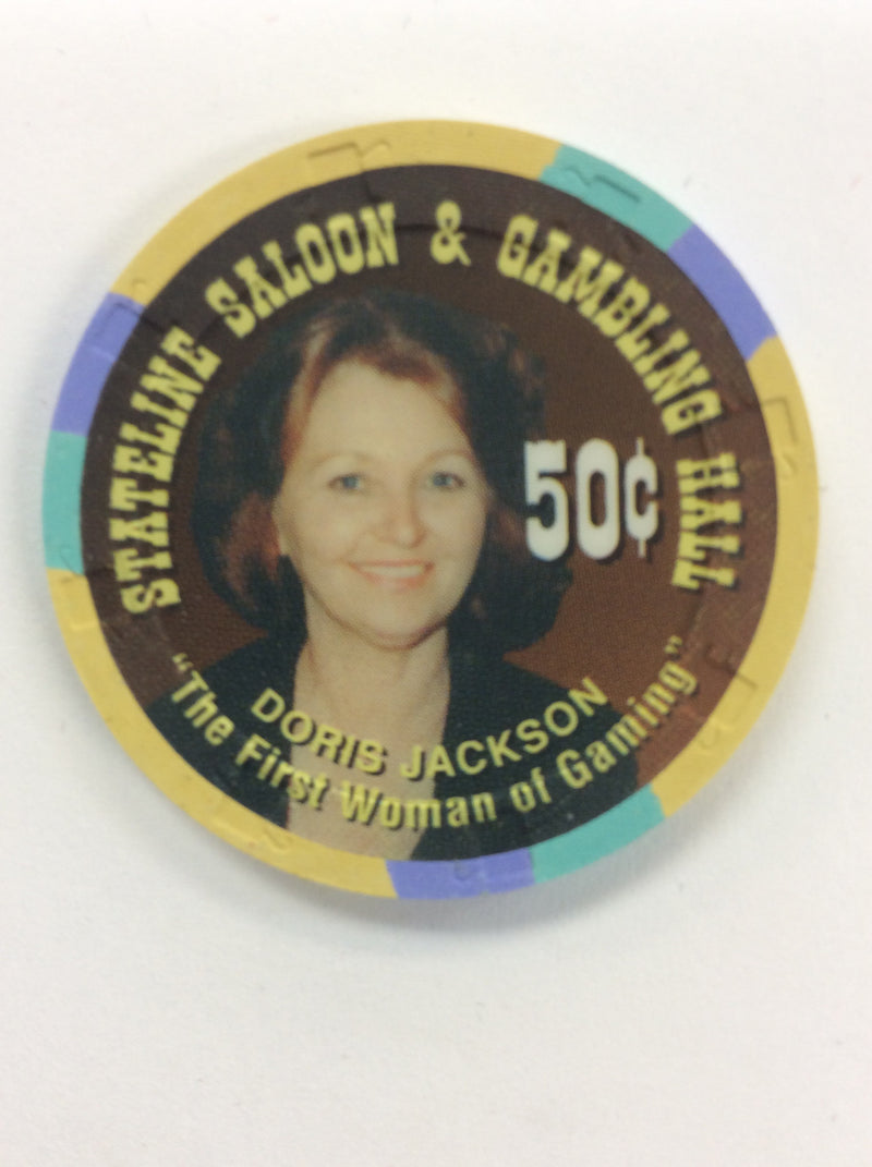 Stateline Saloon 50 (yellow) chip - Spinettis Gaming