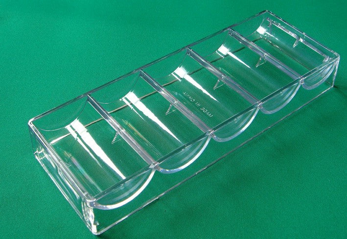 Clear Acrylic Chip Tray for 43mm (Baccarat) Chips