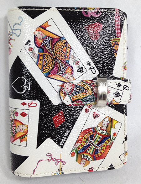 Queens Playing Cards Agenda/purse/wallet With Calculator