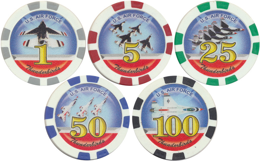Thunderbirds U.S. Air Force Poker Chips