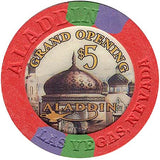 Aladdin Casino $5 Grand Opening Chip - Spinettis Gaming - 1