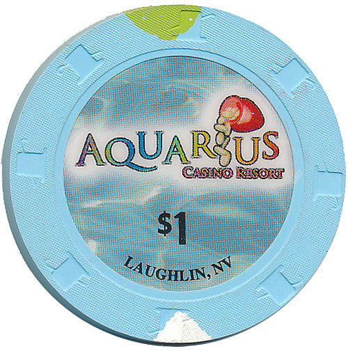 Aquarius Casino Laughlin $1 Chip (Large Inlay) - Spinettis Gaming