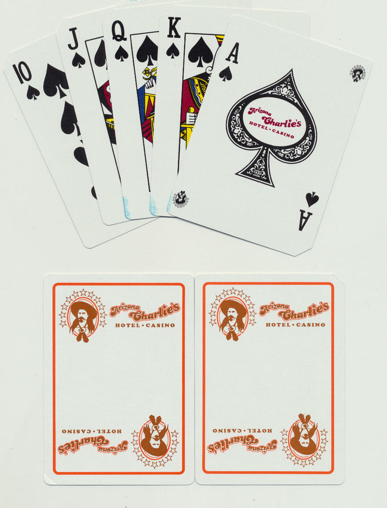 Arizona Charlies Las Vegas Used Deck of Casino Playing Cards White