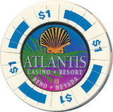 Atlantis, Reno NV $1 Casino Chip - Spinettis Gaming - 2