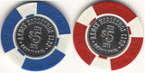 HorseShoe Club $5 (red & blue) chip - Spinettis Gaming