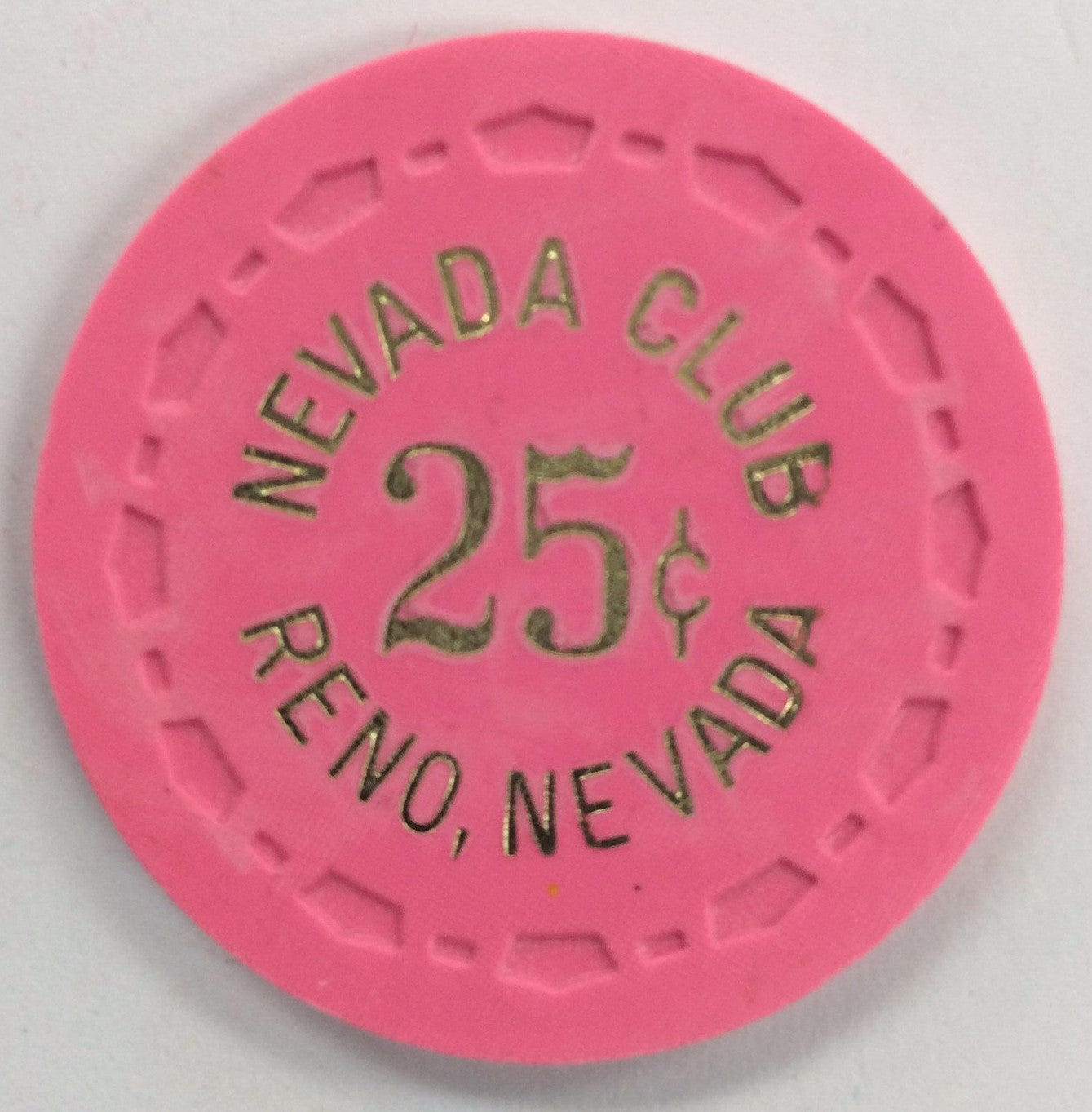 Nevada Club 25cent (pink) chip - Spinettis Gaming