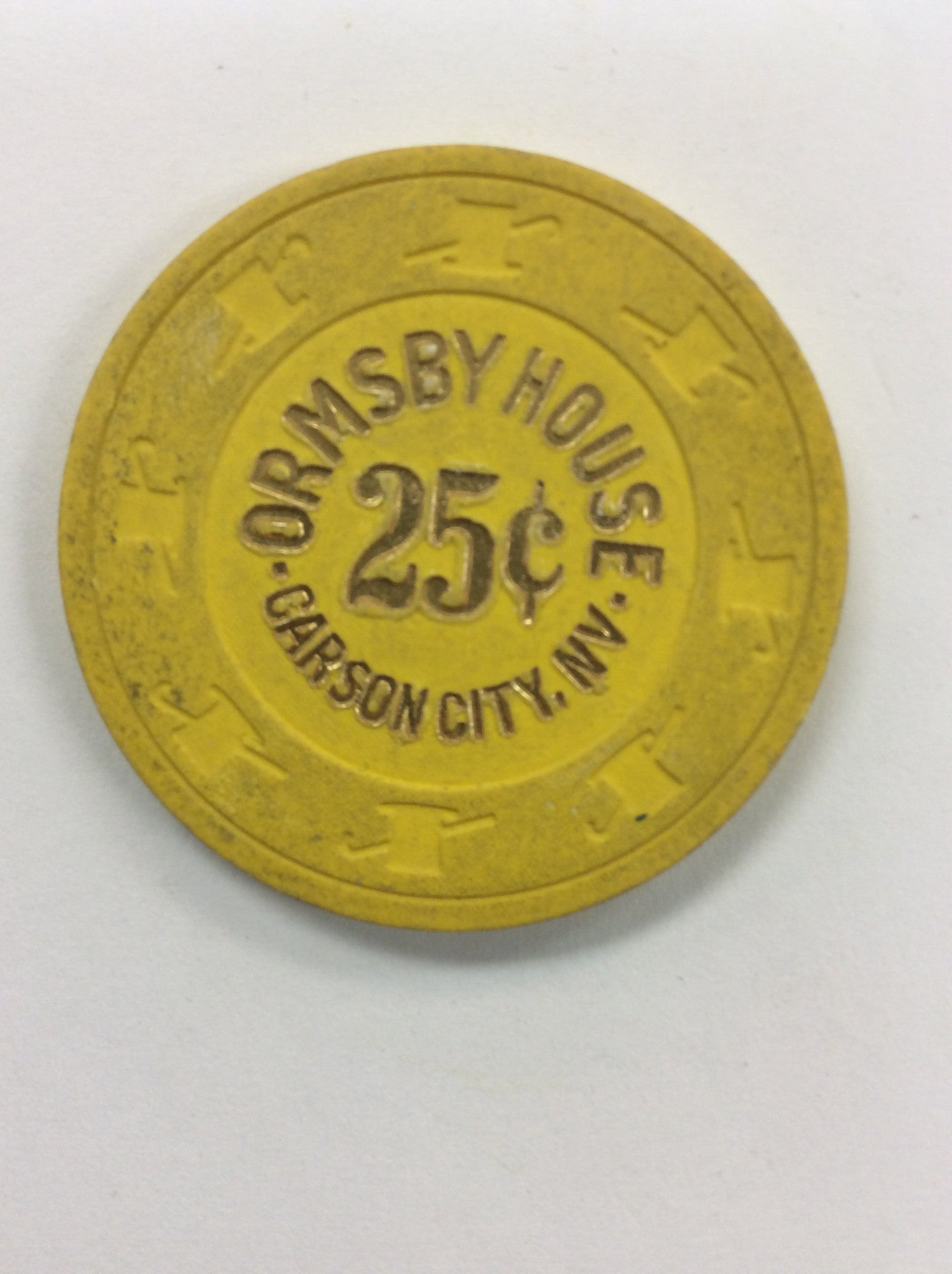 Ormby House 25cent chip - Spinettis Gaming