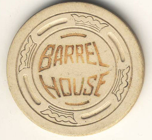 Barrel House (cream 1952) Chip - Spinettis Gaming - 1