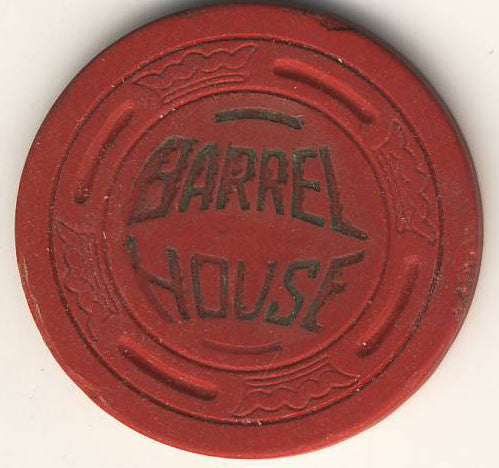 Barrel House $45 (red 1952) Chip - Spinettis Gaming - 1