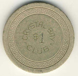 Crystal Bay Club $1 (cream 1960s) Chip - Spinettis Gaming - 2