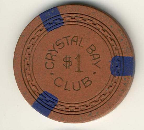 Crystal Bay Club $1 Chip - Spinettis Gaming - 1
