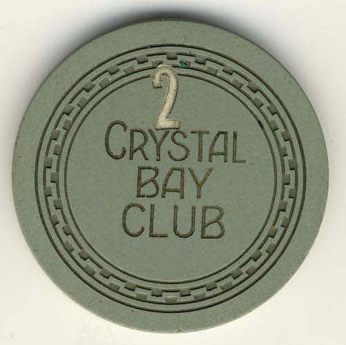 Crystal Bay Club (roulette 1990s) Chip - Spinettis Gaming - 1