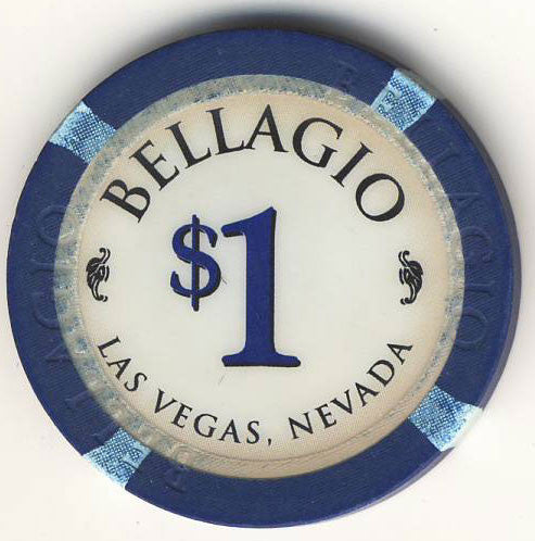 Bellagio Casino Las Vegas $1 Navy 1998 Chip - Spinettis Gaming