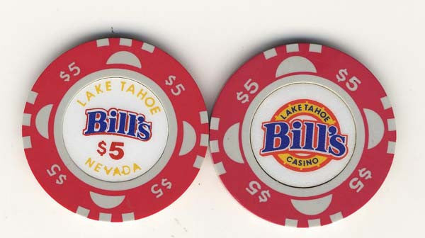 Bills Lake Tahoe $5 (red 1988) - Spinettis Gaming - 1