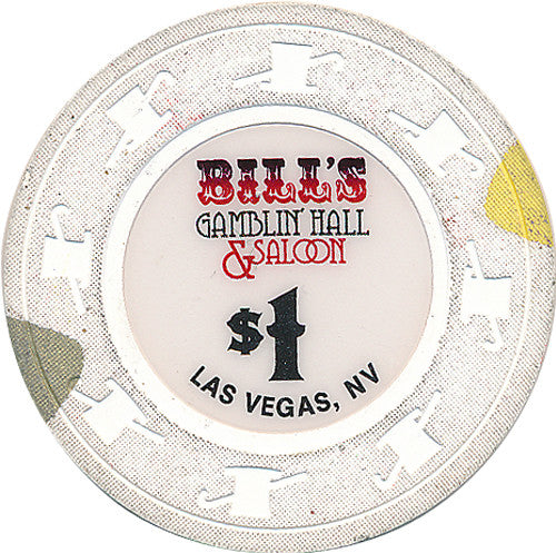 Bill's Gamblin' Hall & Saloon $1 (Paulson) Chip, Las Vegas NV - Spinettis Gaming - 1