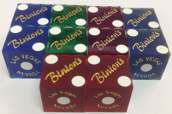 Binion's Used Matching Numbers Casino Dice, Pair